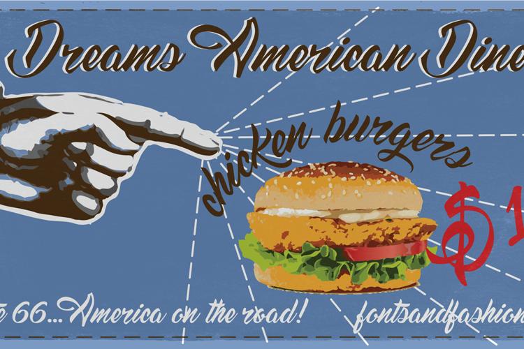 Dream American Diner demo Font
