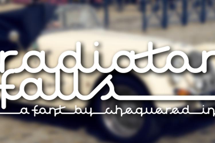 Radiator Falls Font