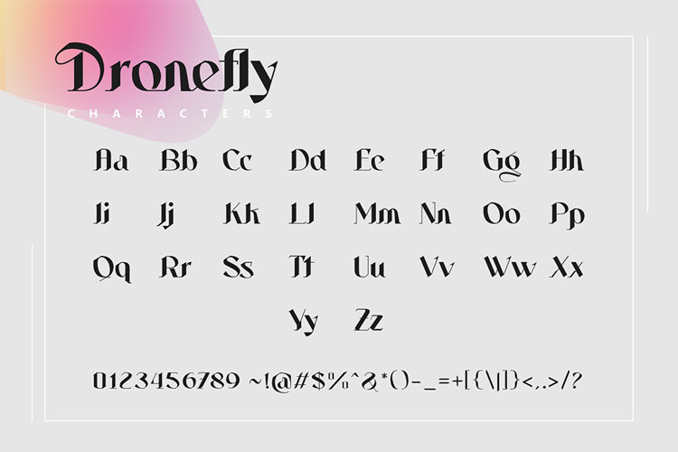 Dronefly Font