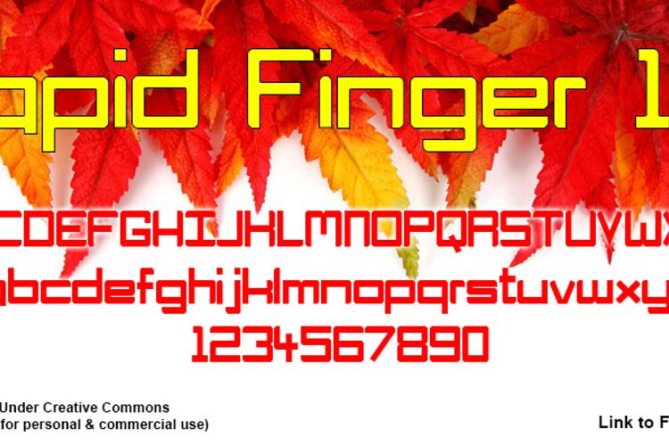 Rapid Finger 101 Font