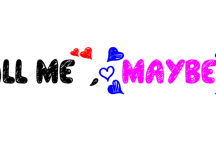 Call Me, Maybe? Font