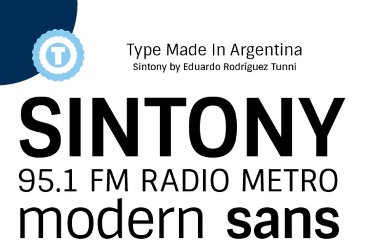 Sintony Font