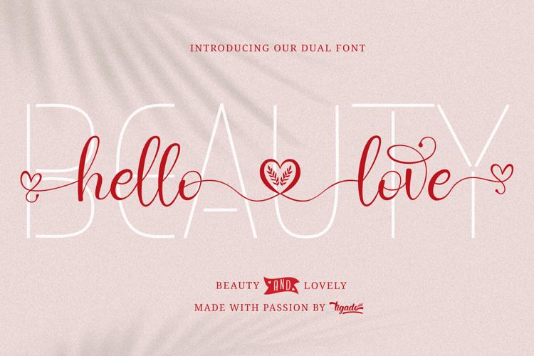 Hello Love Font