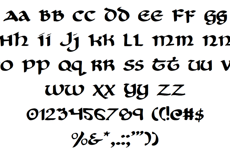 Cry Uncial Font