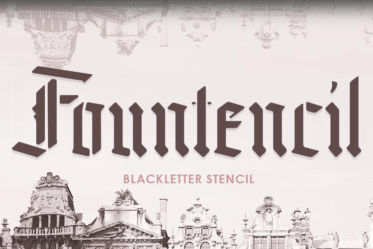 Fountencil Font