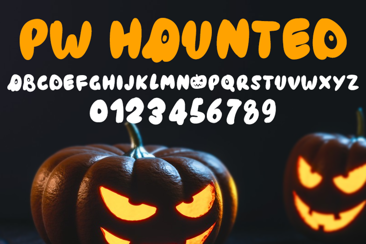 PWHaunted Font