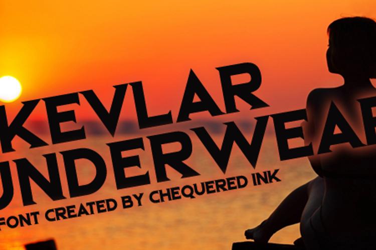 Kevlar Underwear Font