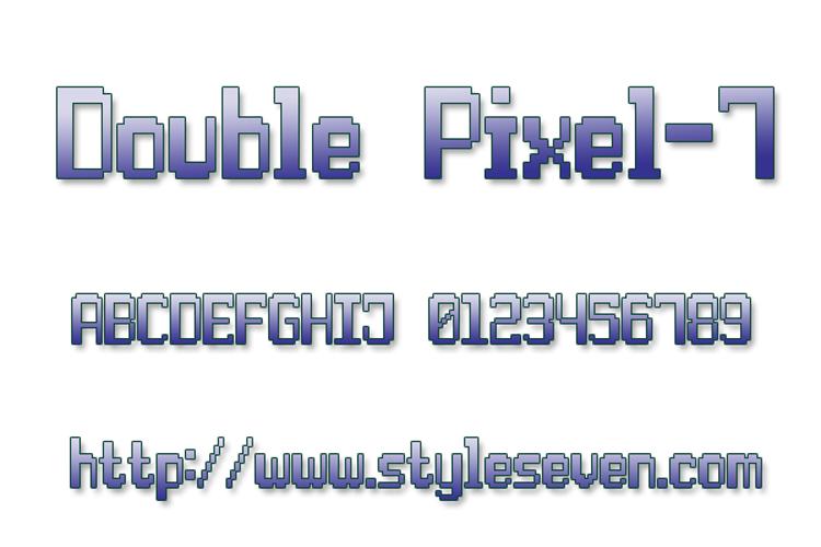 Double Pixel-7 Font