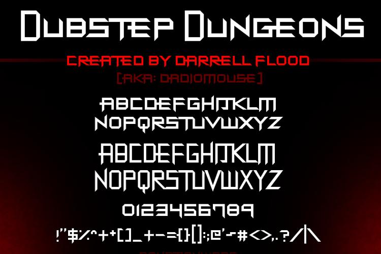 Dubstep Dungeons Font