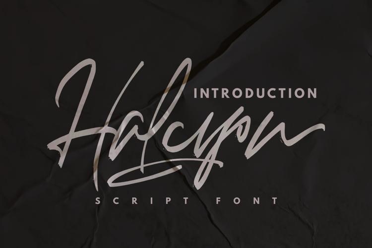 Halcyon Font