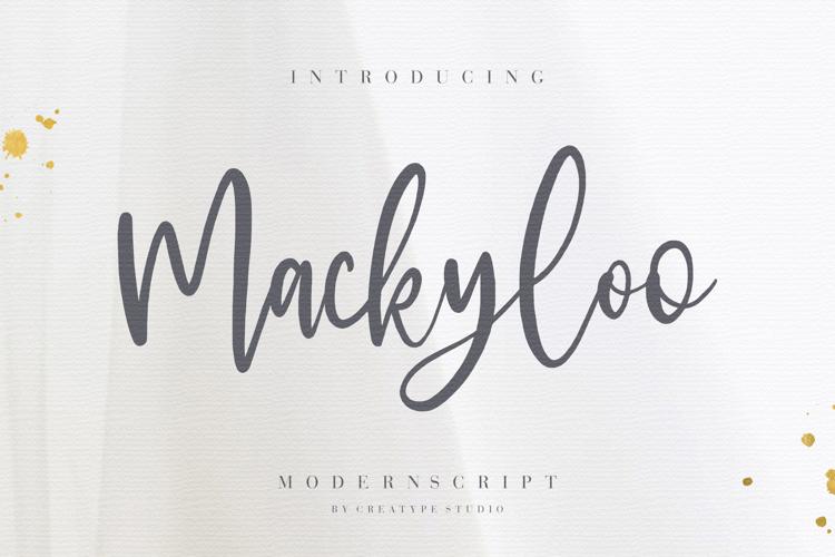 Mackyloo Font