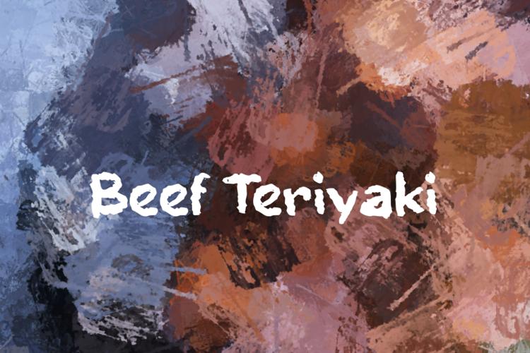 b Beef Teriyaki Font
