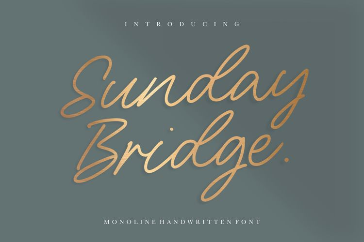 Sunday Bridge Font