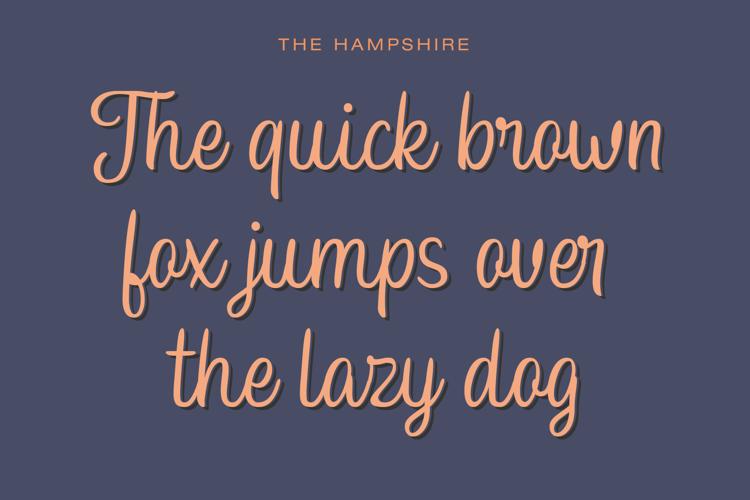 Hampshire Personal Font