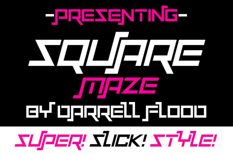 Squaremaze Font