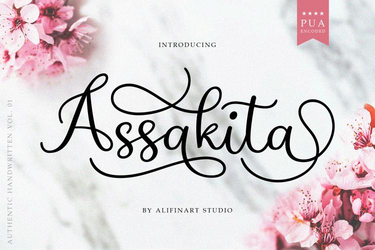 Assakita Script Font