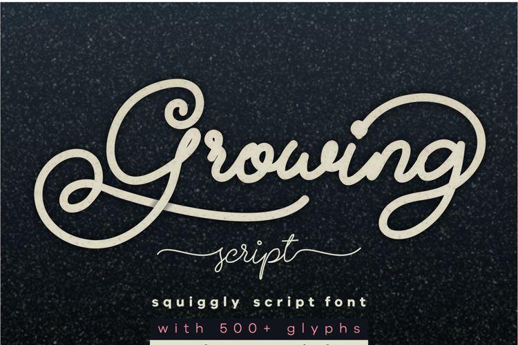 Growing Script Font