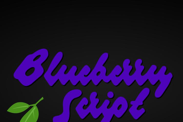 Blueberry Script Font