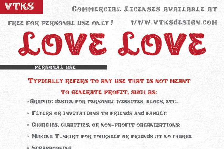vtks love love Font