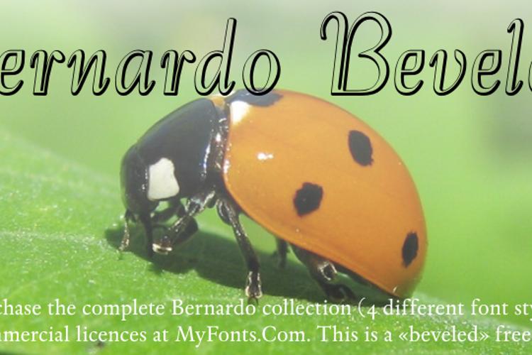 Bernardo Beveled Font