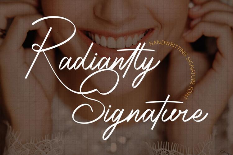 Radiantly Signature Font