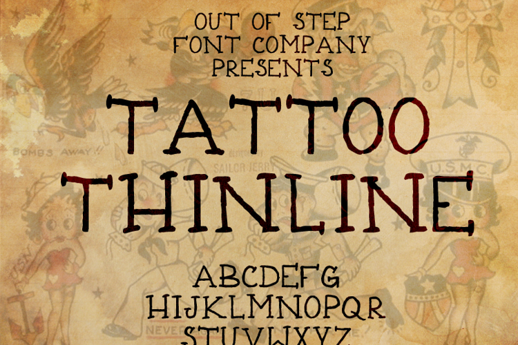 Tattoo Thinline Font