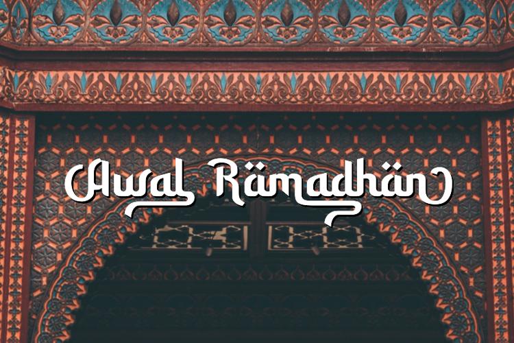 Awal Ramadhan Font