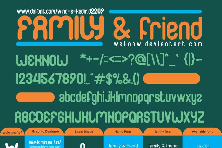 FAMILY & friend Font