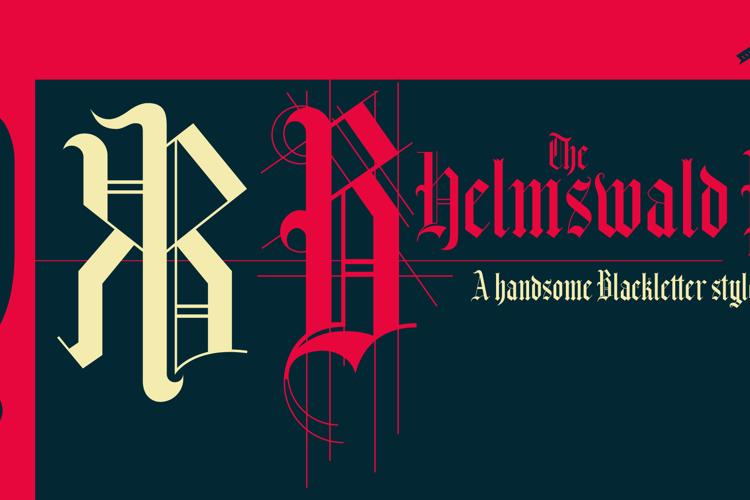 Helmswald Post Font