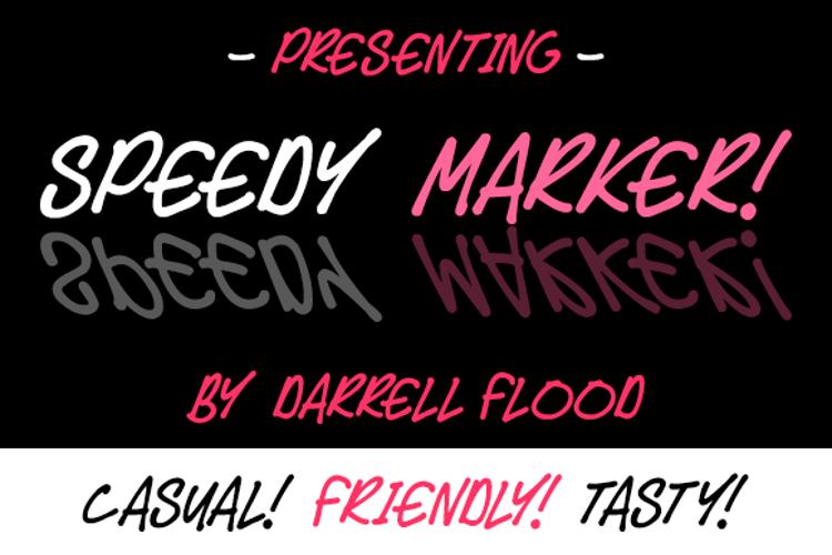 Speedy Marker Font