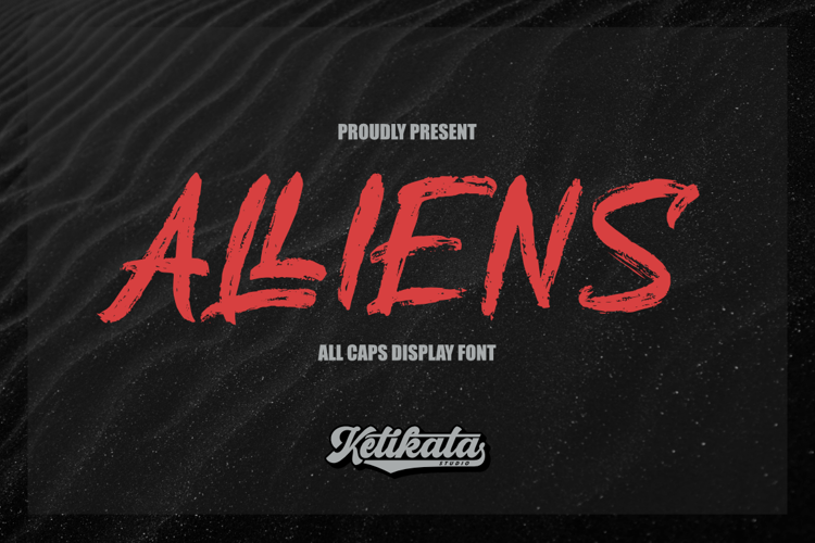 Alliens Personal Use Only Font