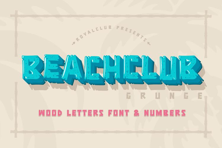 BEACHCLUB Grunge Font