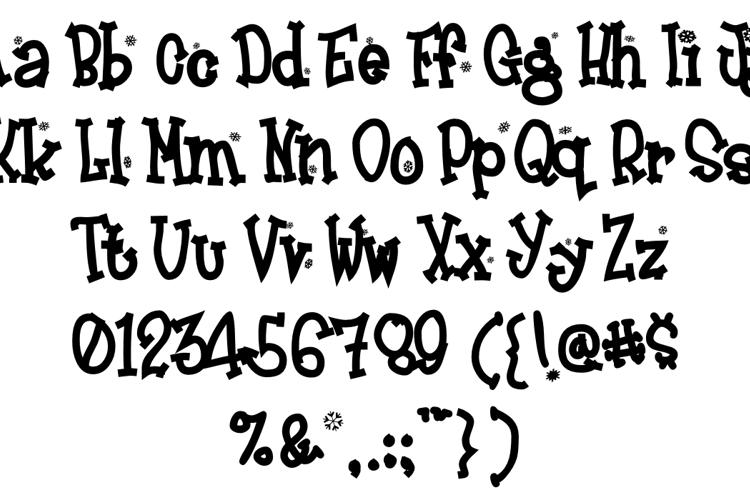 Frosty Font