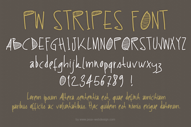 PWStripes Font