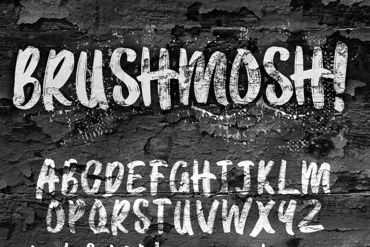 BRUSHMOSH! Font