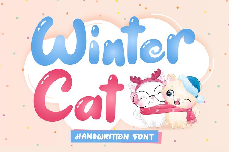 Winter Cat - Handwritten Font
