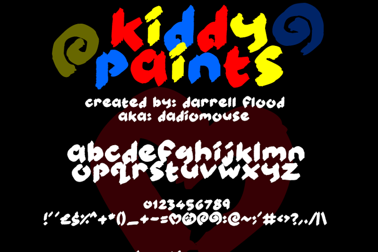 Kiddy Paints Font