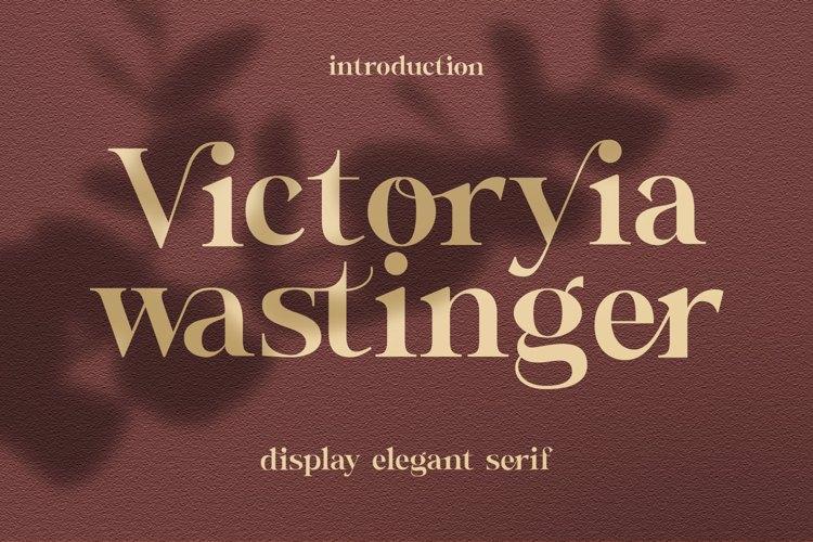 Wastinger Display Font