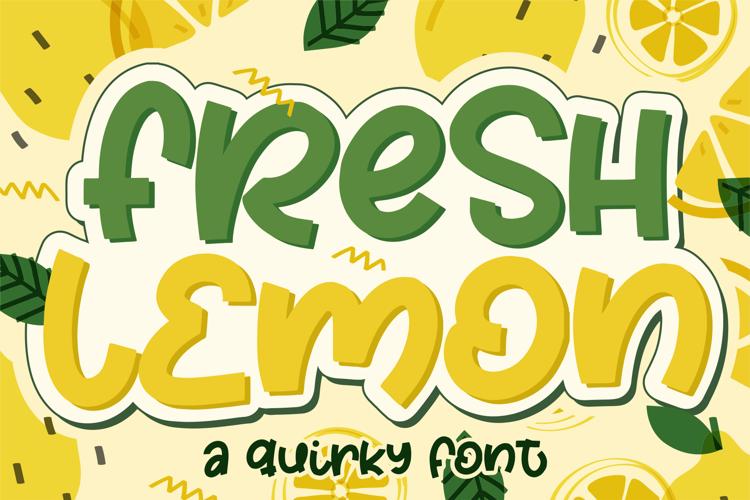 Fresh Lemon Font