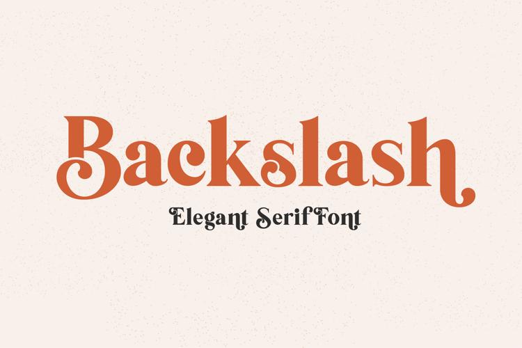 Backslash Font