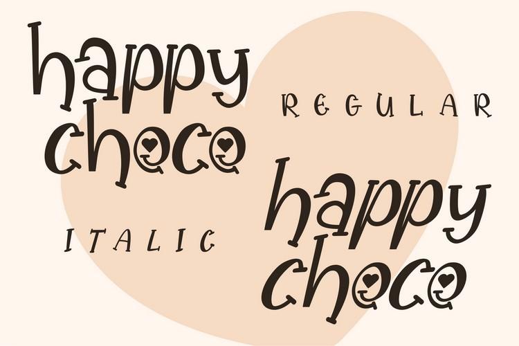 Happy Choco Font