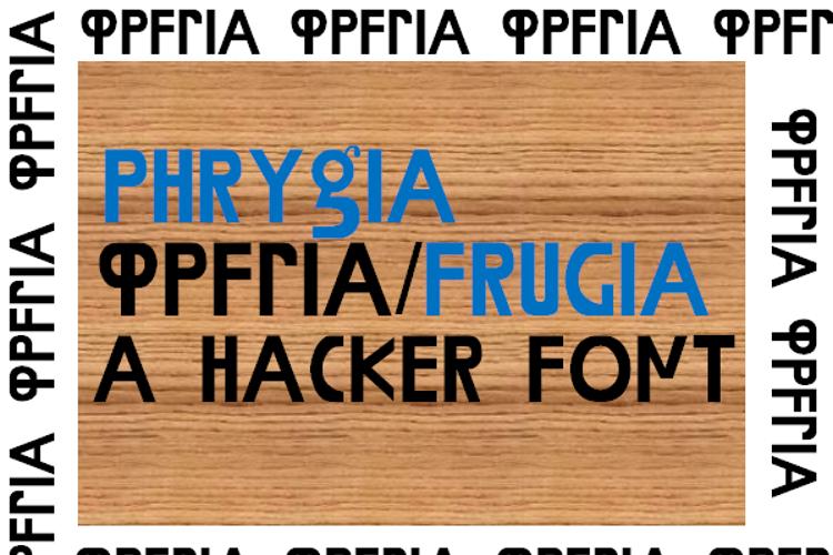 Phrygia Font