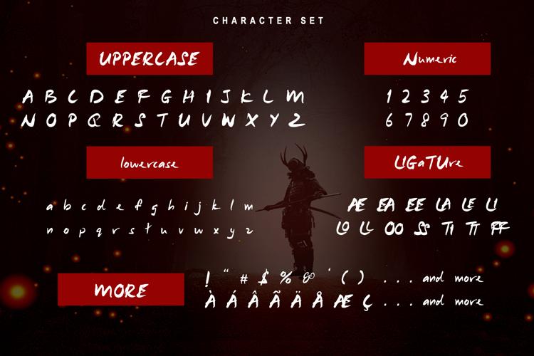 Samurai Warrior Font