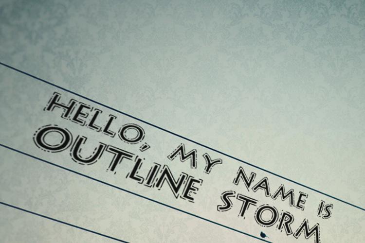 OutlineStorm Font