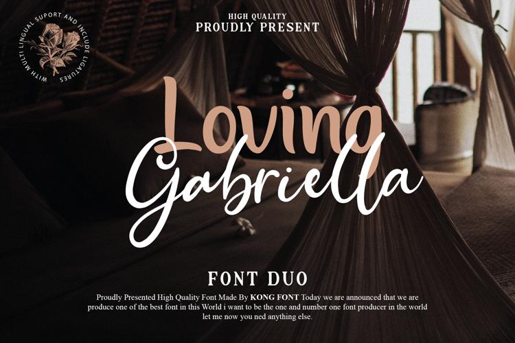 Loving Gabriella Font