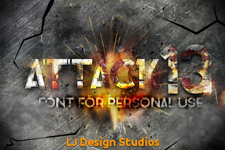 Attack 13 Font
