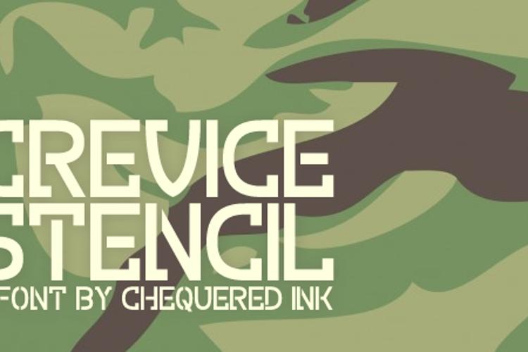 Crevice Stencil Font
