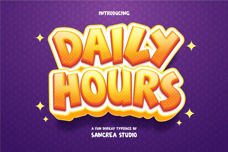 Daily Hours Font