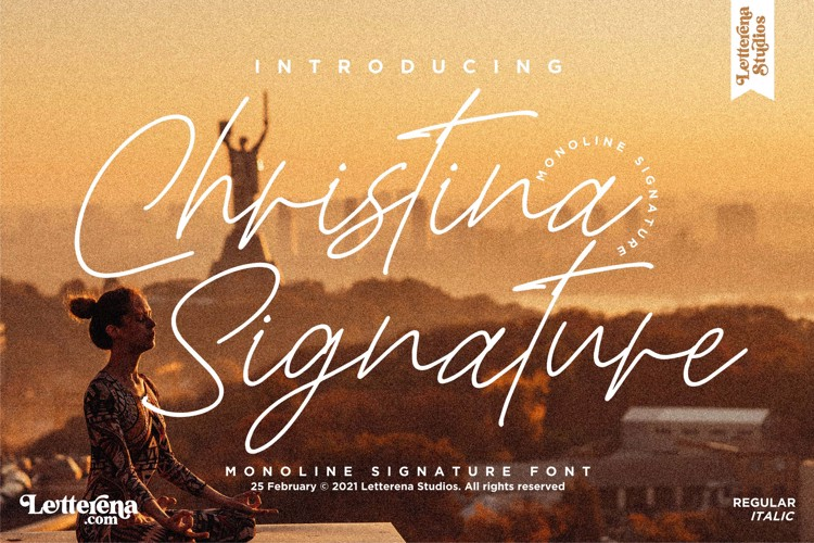 Christina Signature Font
