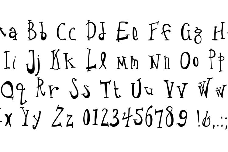 Crude Drawn Type Font